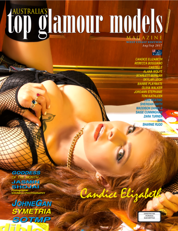 Australia's Top Glamour Models Magazine – Aug – Sep 2017